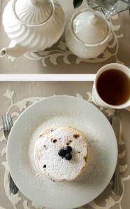 البانكيك بالتوت الأزرق Blueberry Pancakes
