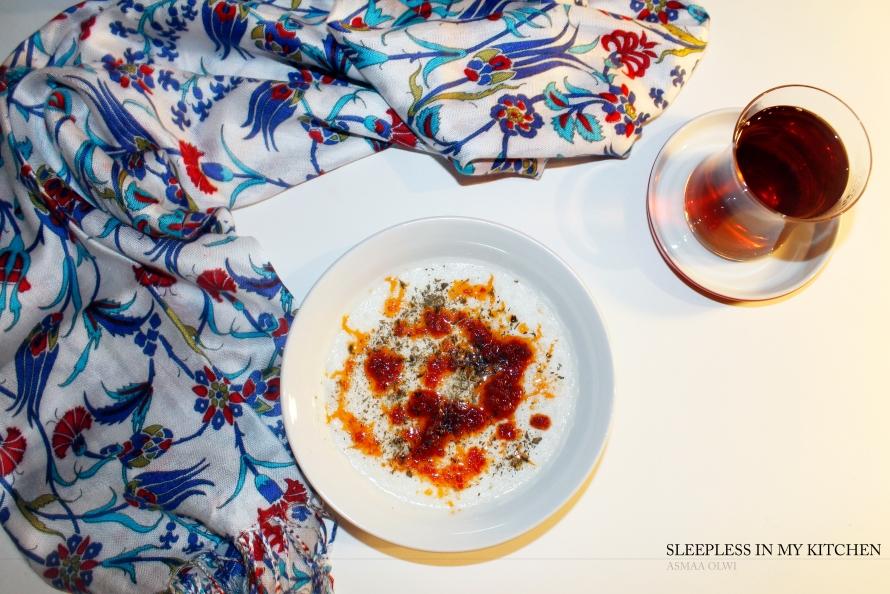 شوربة الأرز واللبن التركية Turkish Yogurt Soup